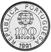 1989-2000 Portugal 100 Escudos obverse
