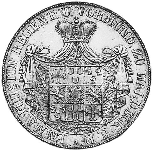 German States WALDECK-PYRMONT 2 Thaler obverse