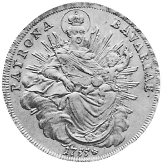 German States BAVARIA Thaler reverse