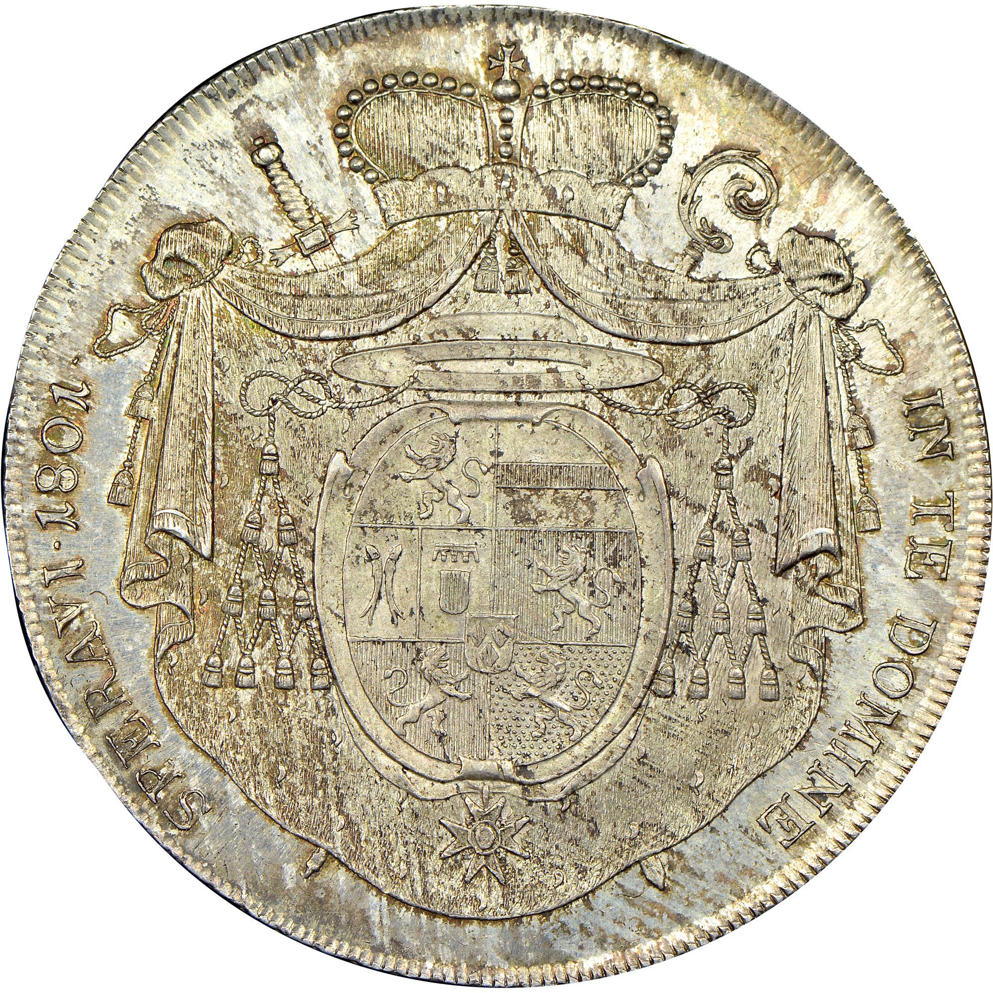 1801 Austrian States GURK Thaler, Convention reverse