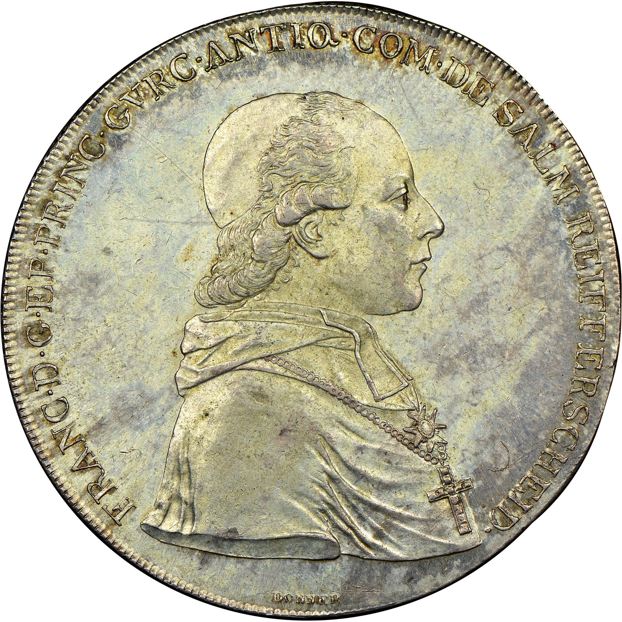 1801 Austrian States GURK Thaler, Convention obverse