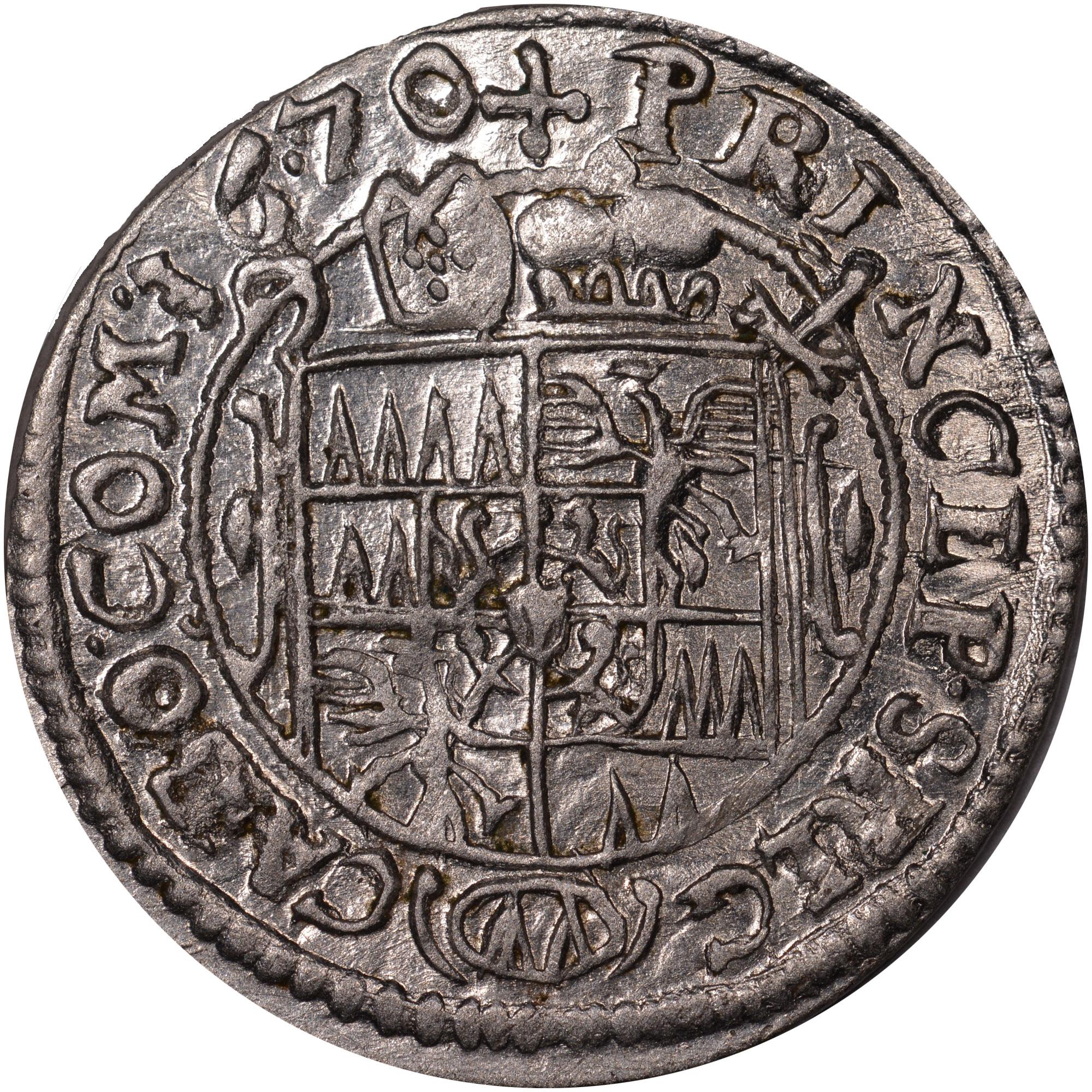1665-1673 Austrian States OLMUTZ 3 Kreuzer reverse