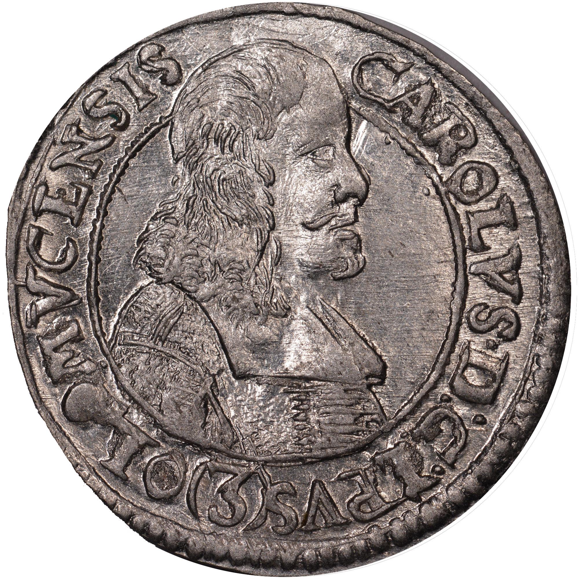 1665-1673 Austrian States OLMUTZ 3 Kreuzer obverse