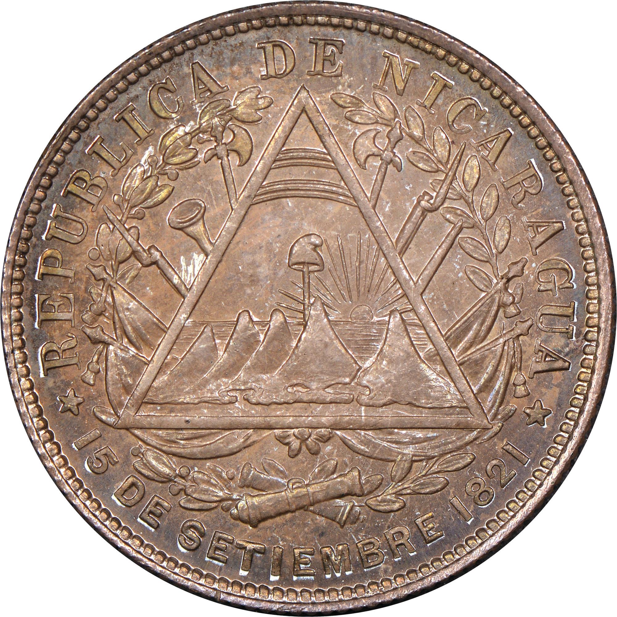 Nicaragua 20 Centavos obverse
