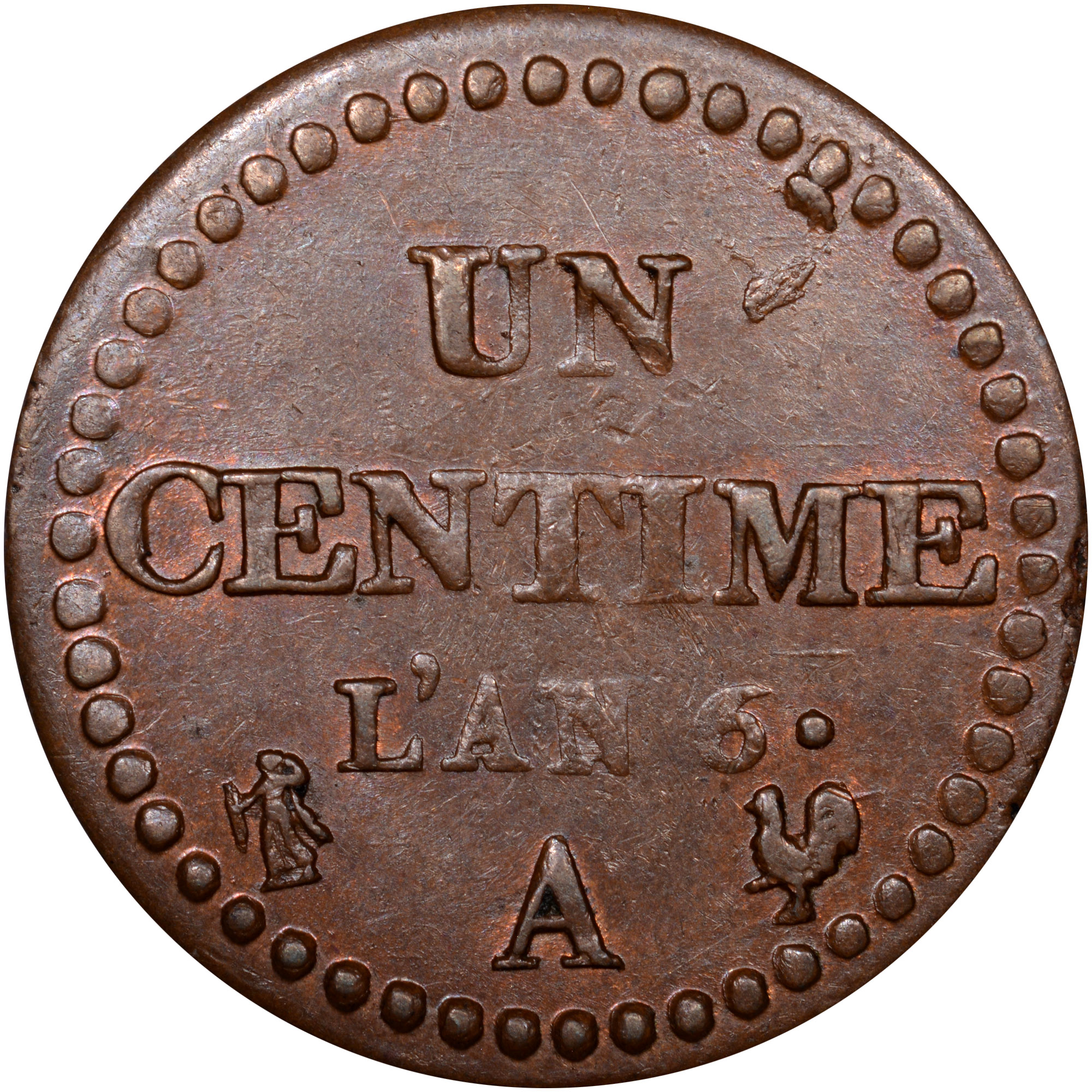 France Centime reverse