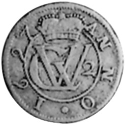 1687-1703 German States BRUNSWICK-LUNEBURG-CELLE 2 Mariengroschen obverse