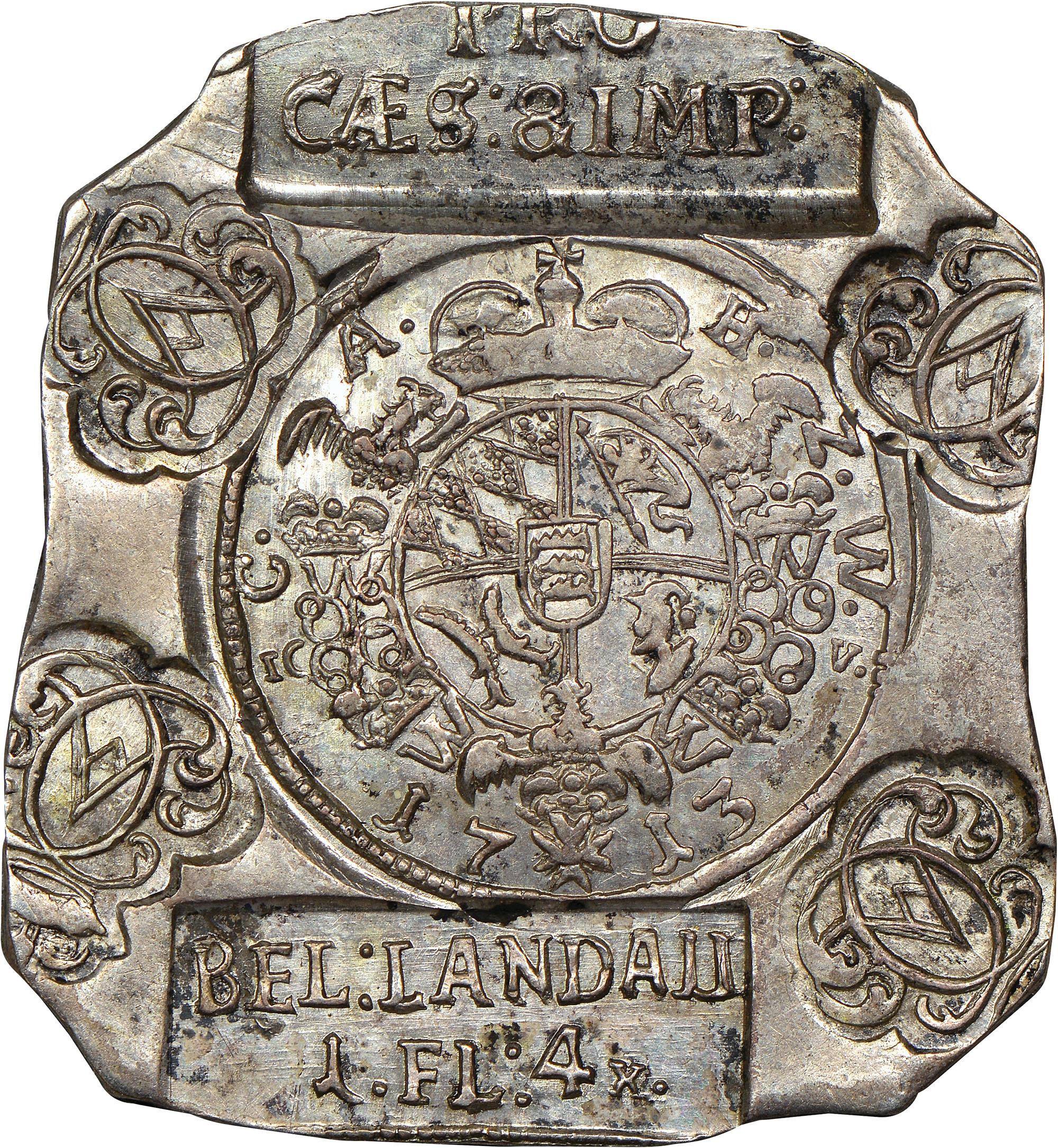 1713 German States LANDAU 1 Florin 4 Kreuzer obverse