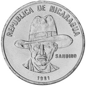 Nicaragua 25 Centavos obverse