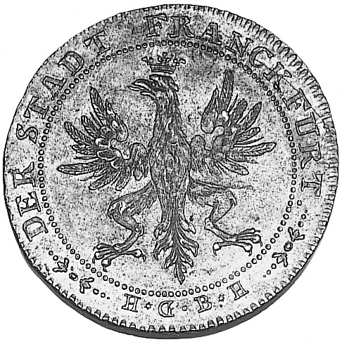 1796 German States FRANKFURT AM MAIN Thaler obverse