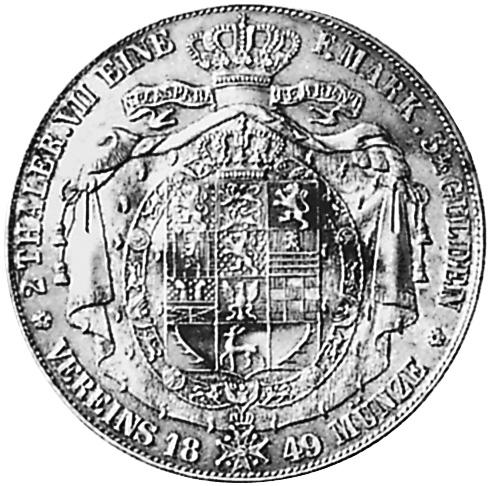 German States BRUNSWICK-WOLFENBÜTTEL 2 Thaler KM 1136 Prices & Values