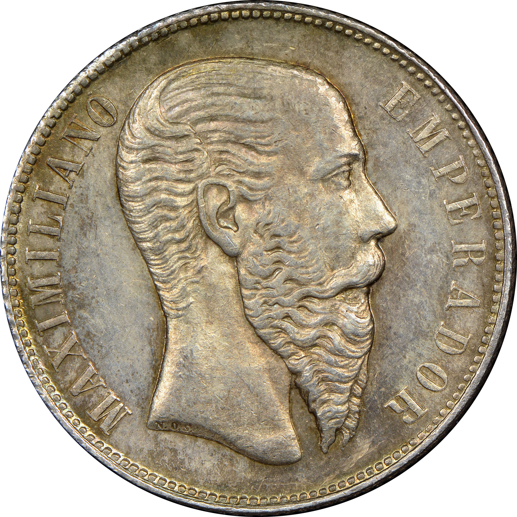 Mexico EMPIRE OF MAXIMILIAN 50 Centavos obverse