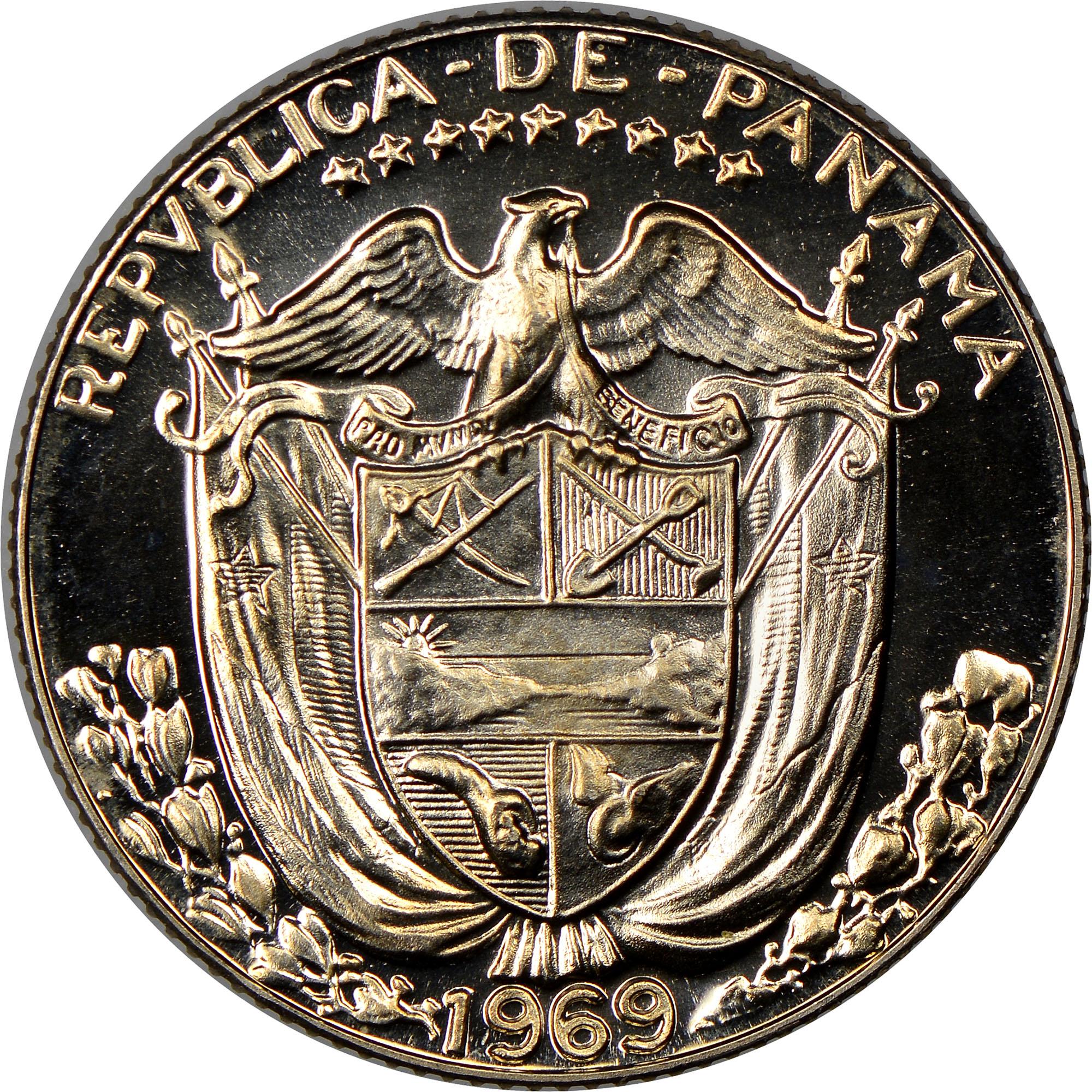 Panama 1 10 Balboa Obverse