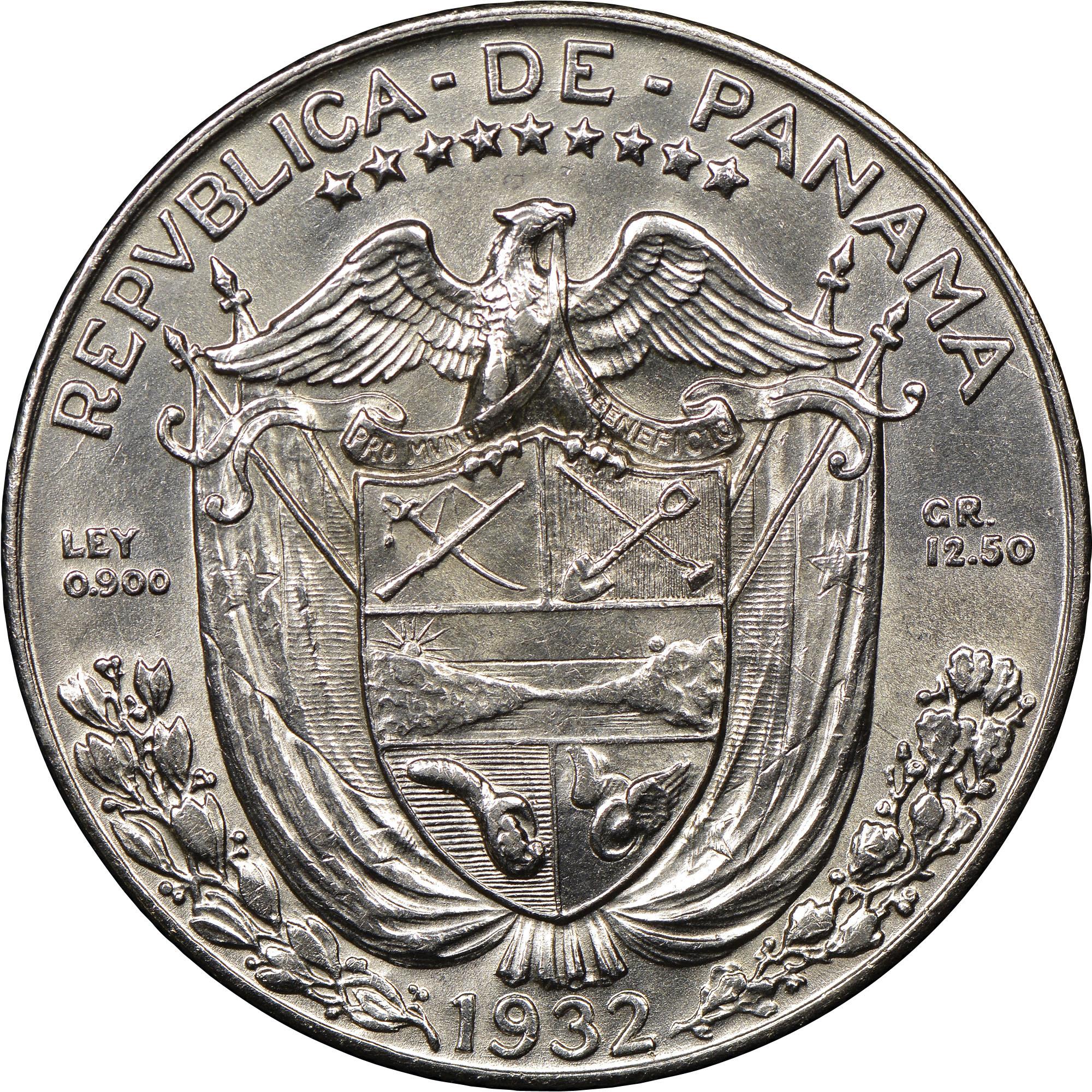 Panama 1/2 Balboa obverse