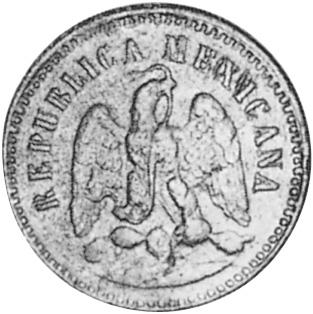1875-1881 Mexico Centavo obverse