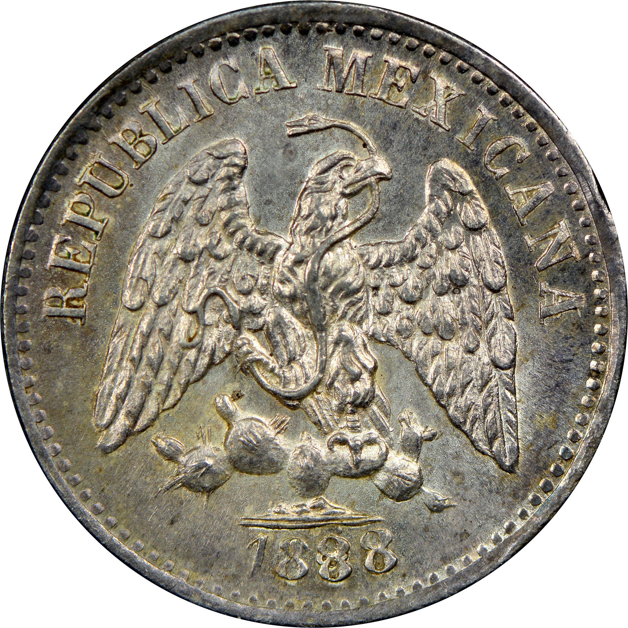 1874-1894 Mexico 5 Centavos obverse