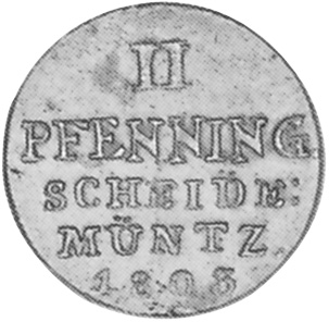 German States BRUNSWICK-LÜNEBURG-CALENBERG-HANNOVER 2 Pfenning reverse