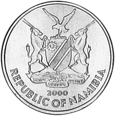 Namibia 5 Cents obverse