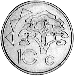Namibia 10 Cents reverse
