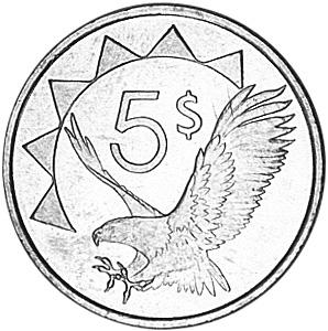 Namibia 5 Dollars reverse