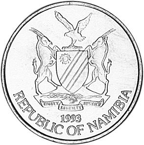 Namibia 5 Dollars obverse
