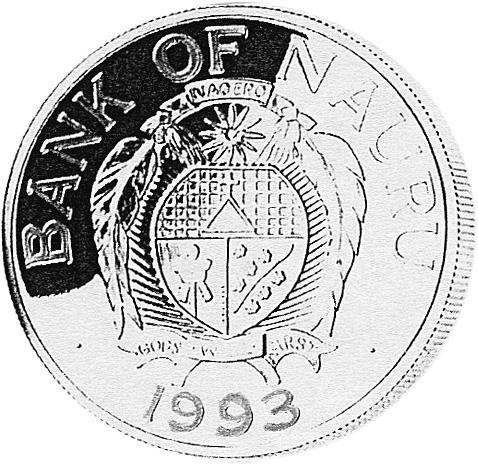 Nauru 10 Dollars obverse