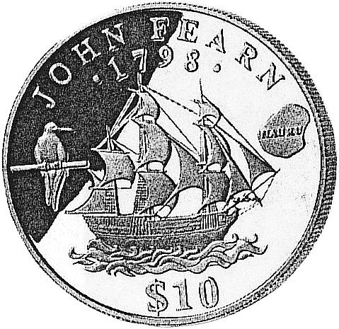 Nauru 10 Dollars reverse