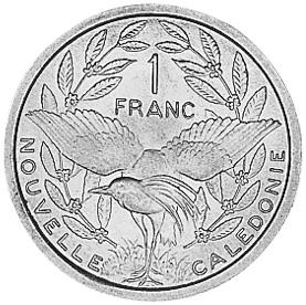 New Caledonia Franc reverse