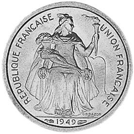 New Caledonia Franc obverse