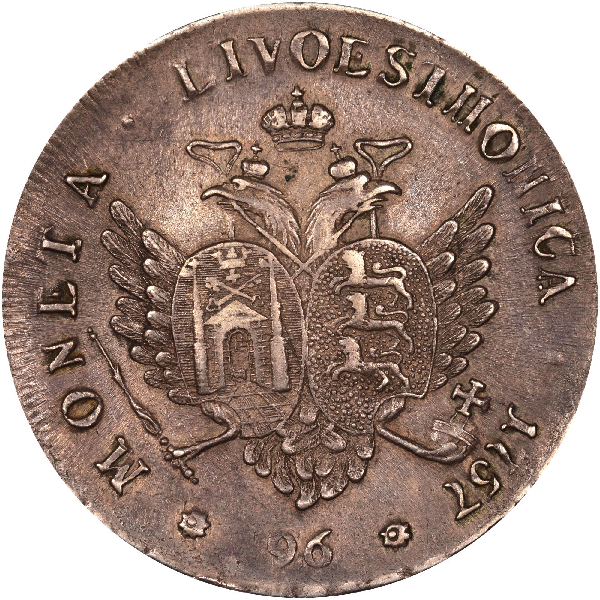 Livonia & Estonia 96 Kopecks reverse