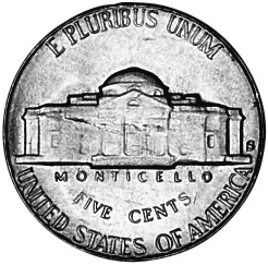 United States 5 Cents reverse