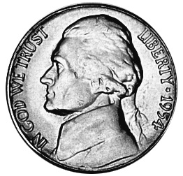 United States 5 Cents obverse