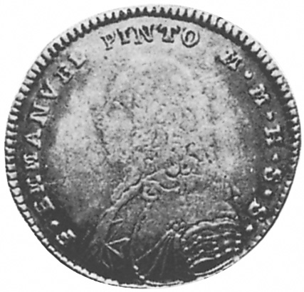 1764 Malta, Order Of 2 Scudi obverse