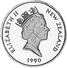 New Zealand 5 Cents obverse