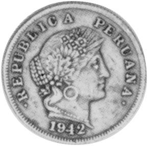 1942-1944 Peru 20 Centavos obverse