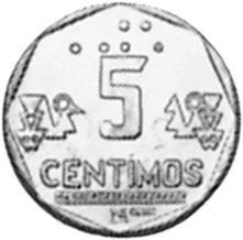 Peru 5 Centimos reverse