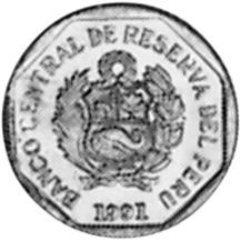 Peru 5 Centimos obverse