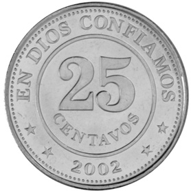 Nicaragua 25 Centavos KM 99 Prices Values