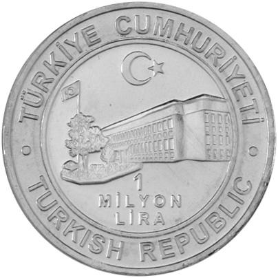Turkey 1000000 Lira obverse