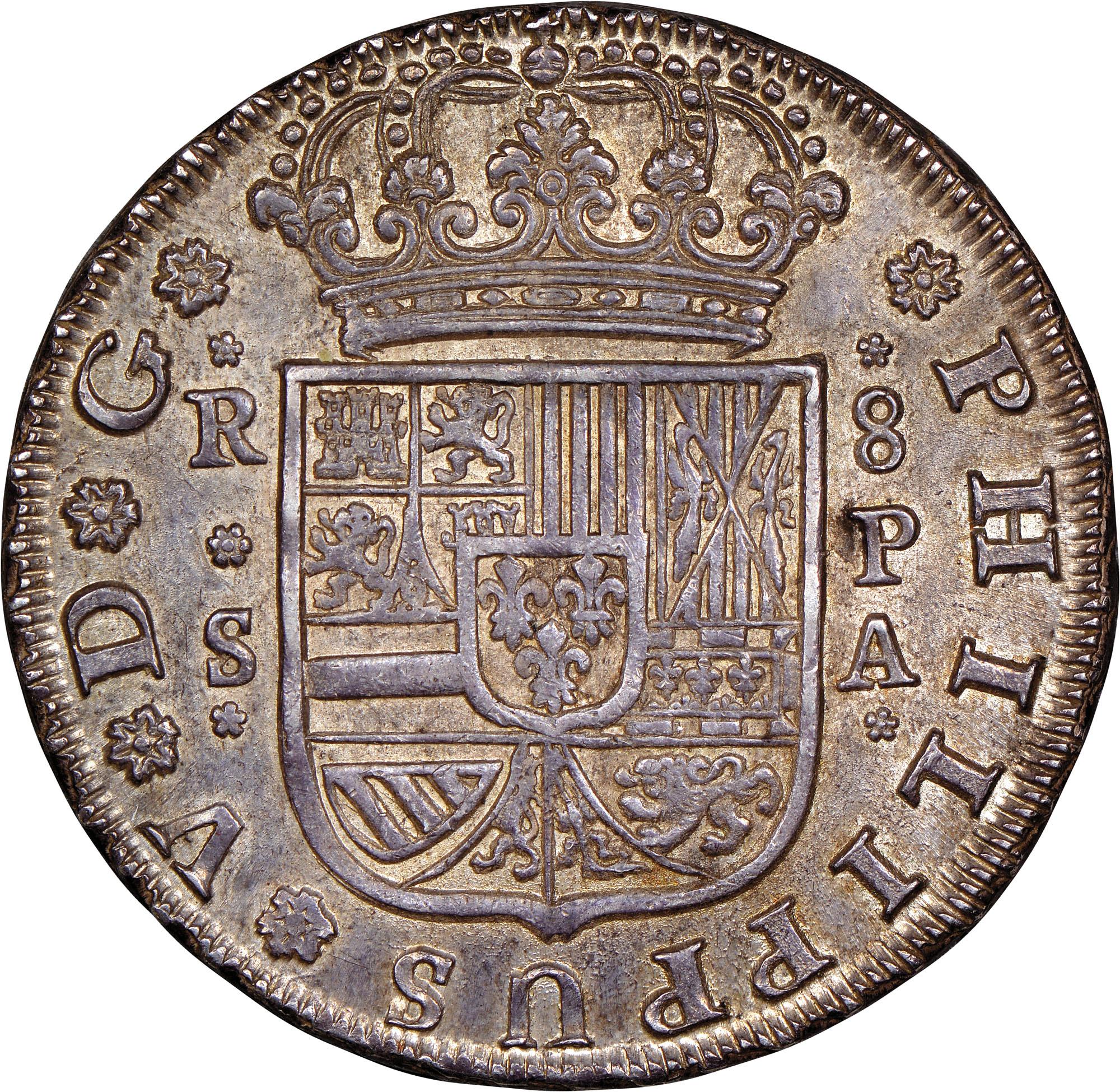 foto de Spain 8 Reales KM 358 Prices & Values   NGC