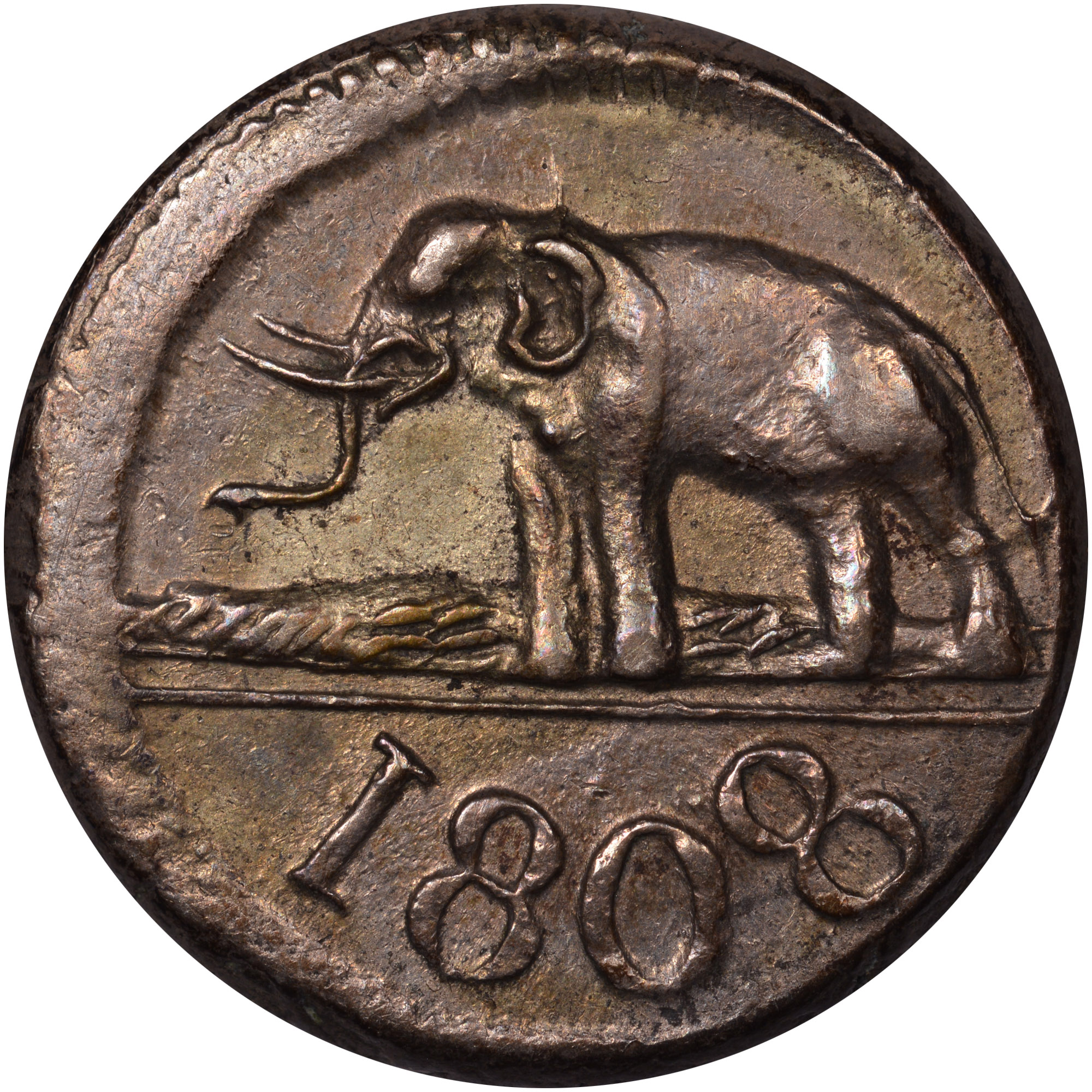 1803-1809 Ceylon 48 Stivers reverse