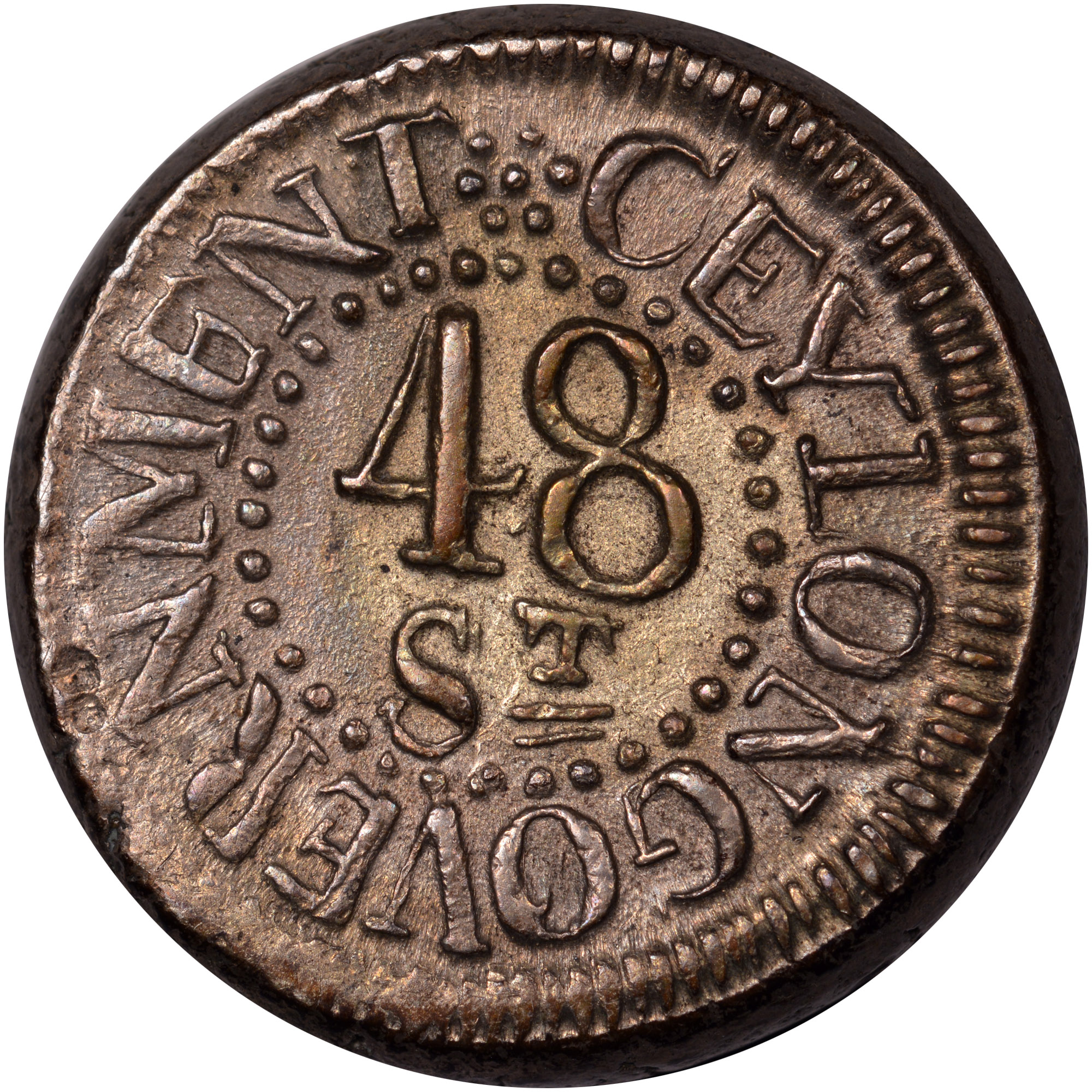 1803-1809 Ceylon 48 Stivers obverse
