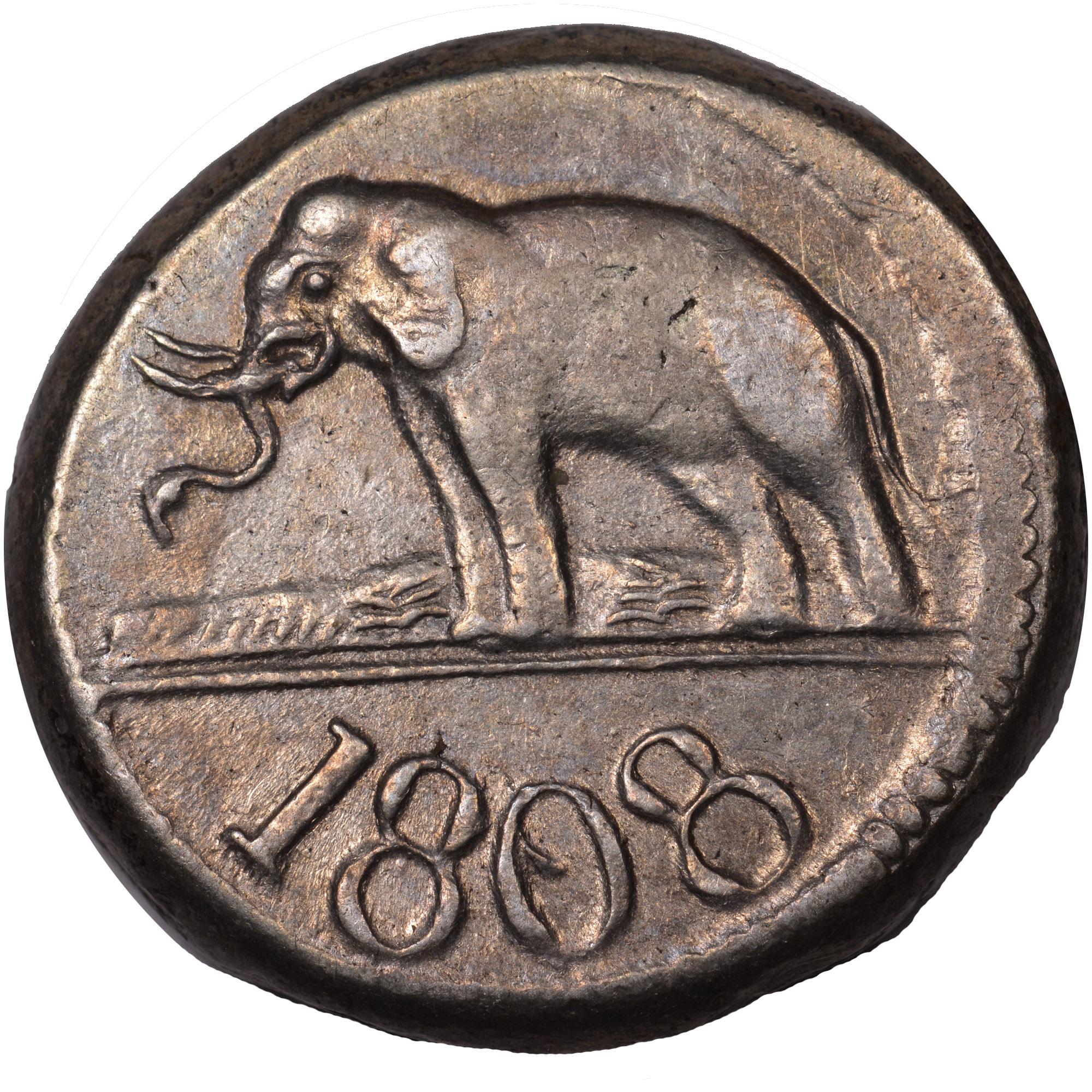1808-1809 Ceylon 96 Stivers reverse
