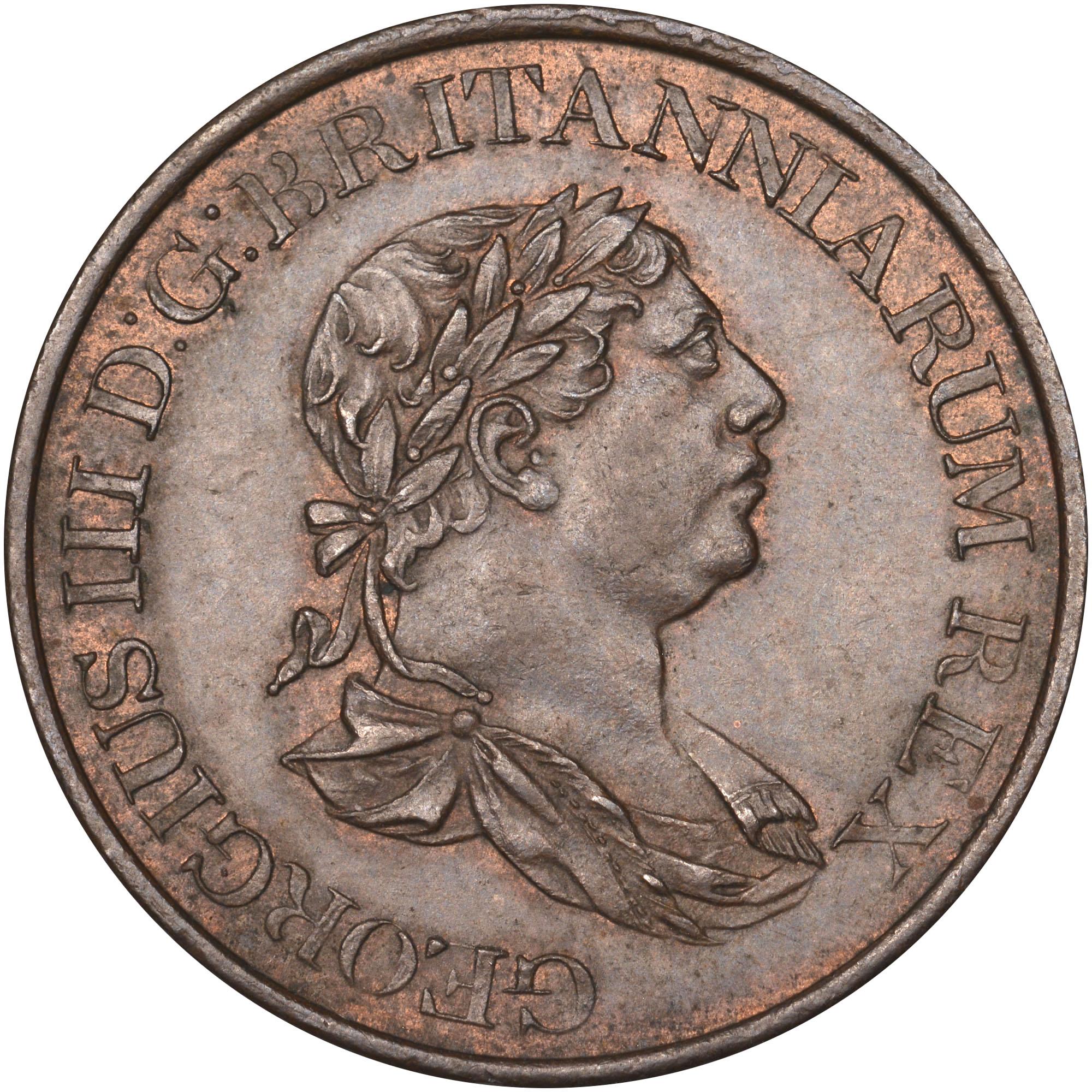1815 Ceylon 1/2 Stiver obverse