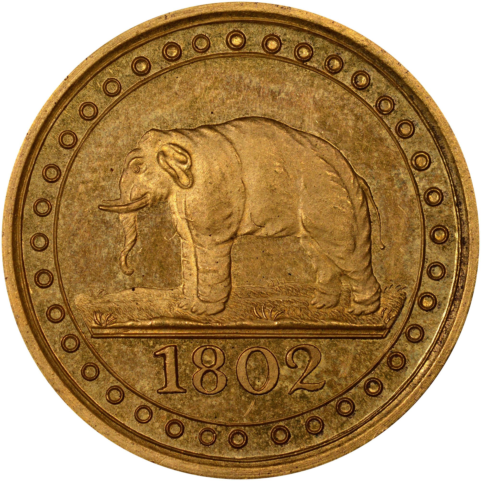 1802-1804 Ceylon 1/192 Rixdollar reverse