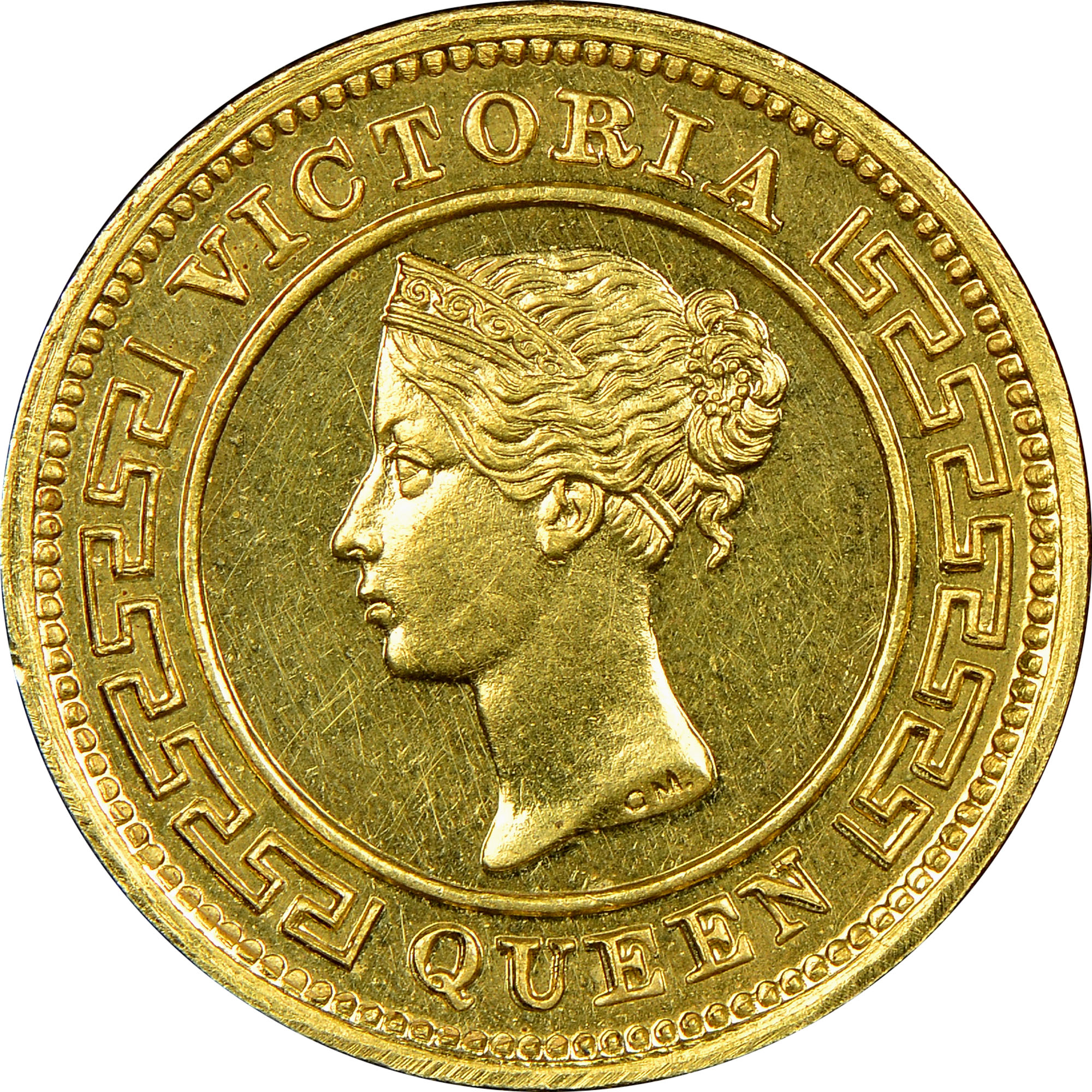 1870-1891 Ceylon 1/4 Cent obverse