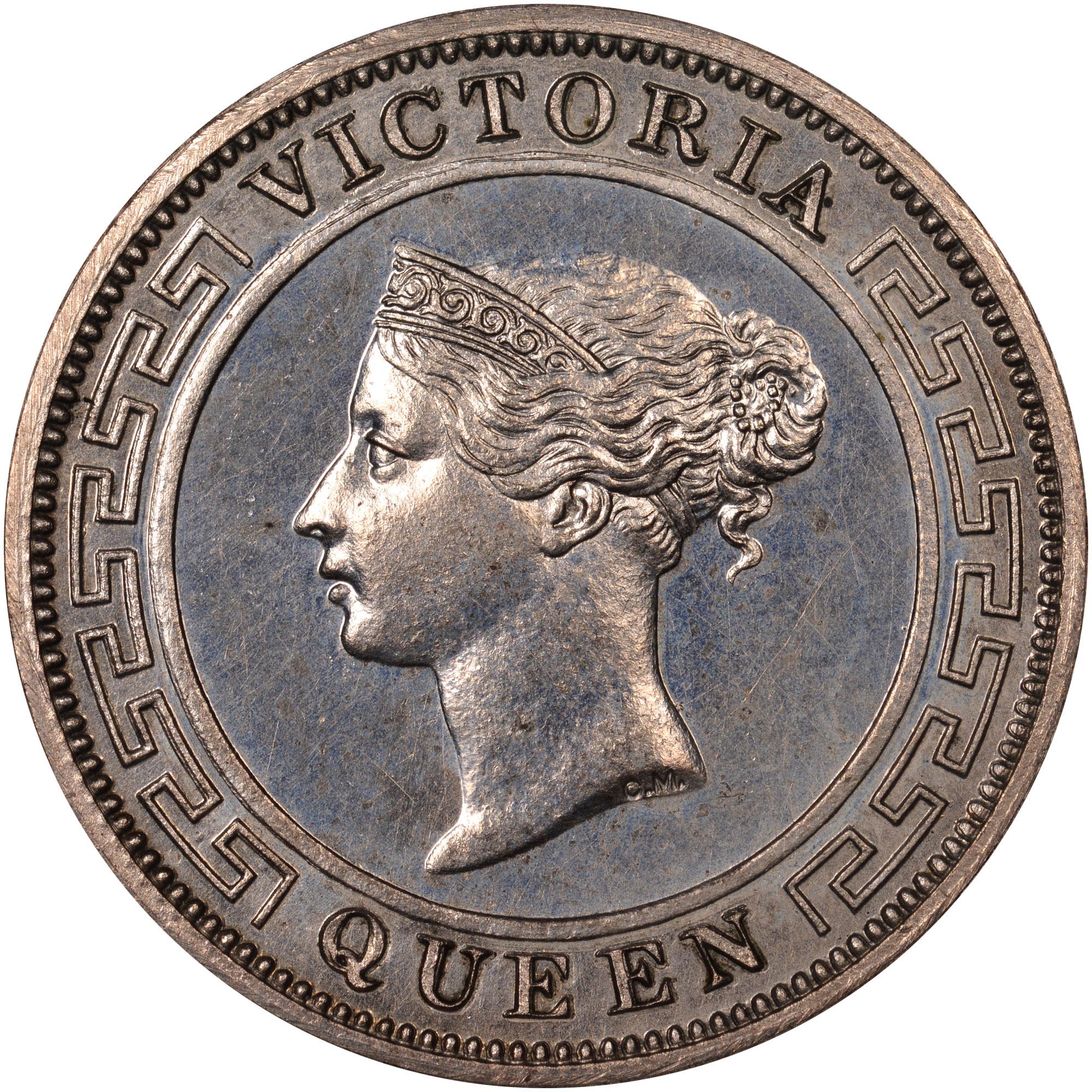 1870-1892 Ceylon Cent obverse