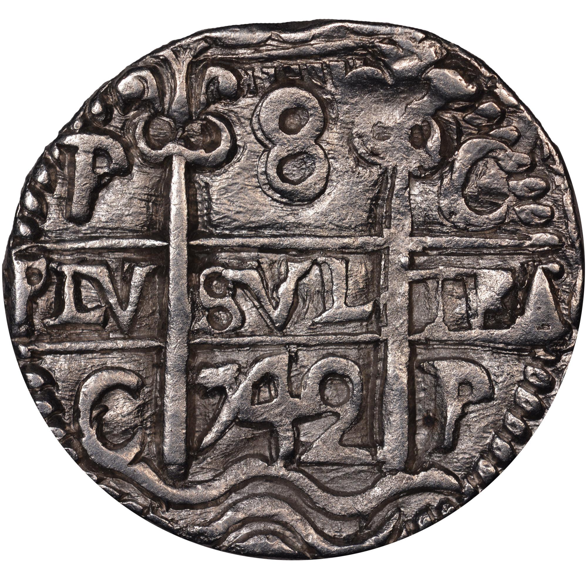 (1729-47)-1747 Bolivia 8 Reales reverse