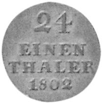 German States WALLMODEN-GIMBORN 1/24 Thaler reverse