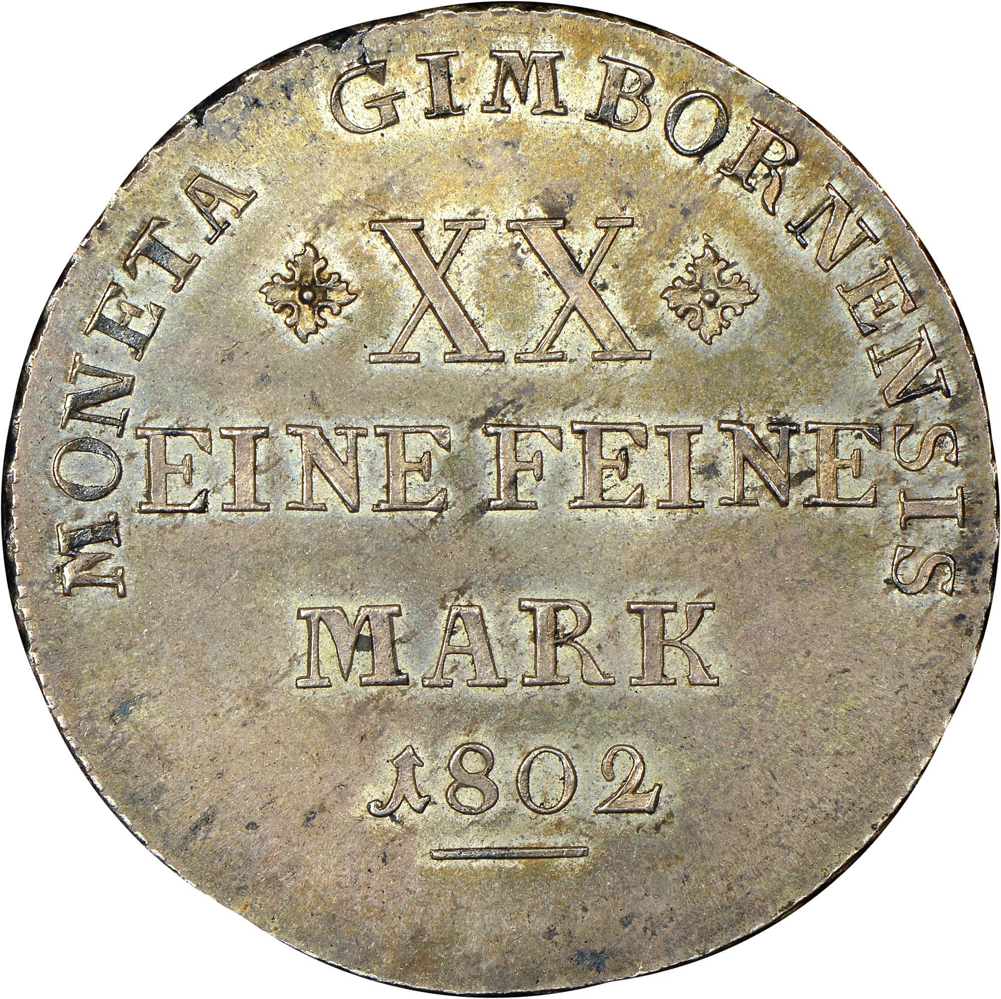 German States WALLMODEN-GIMBORN 1/2 Thaler reverse