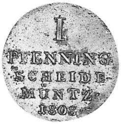 German States WESTPHALIA Pfennig reverse
